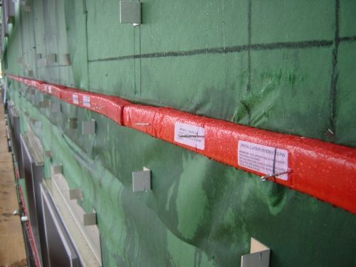Ventilated Fire Barrier for use behind cladding.